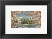 Framed Lincoln Memorial & Cherry Blossoms