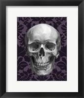 Framed Skull on Damask