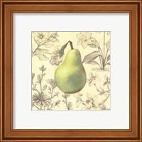 Framed Pear and Botanicals