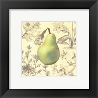 Framed Pear and Botanicals