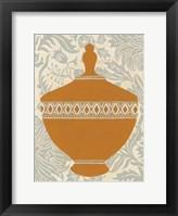 Pottery Patterns I Framed Print