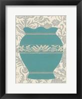 Pottery Patterns IV Framed Print