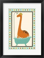 Framed Rub-A-Dub Dino I