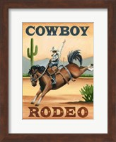 Framed Cowboy Rodeo