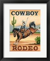 Framed Cowboy Rodeo