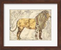 Framed Royal Lion