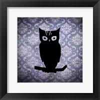 Framed Owl & Damask