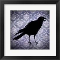 Framed Crow & Damask