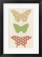 Butterfly Patterns III Framed Print