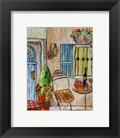 Framed Greek Cafe II