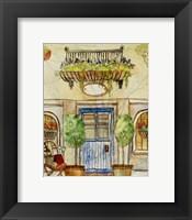 Framed Greek Cafe IV