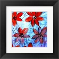 Framed Flower Strokes I