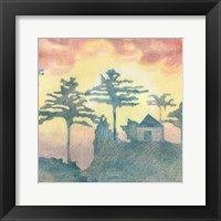 Framed Rising Sun I
