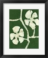 Framed Green Blooms I