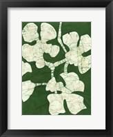 Framed Green Blooms II