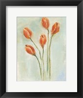 Framed Painted Tulips I