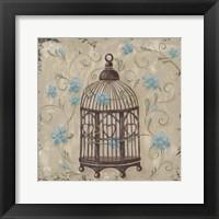 Framed Decorative Bird Cage II