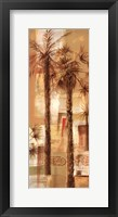 Framed Palm Panel I