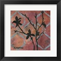 Framed Modern Tree in Black III