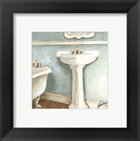 Framed Porcelain Bath I