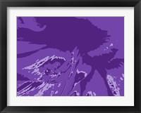 Framed Amaryllis Pistils up close on Purple