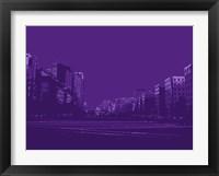 Framed City Block on Purple