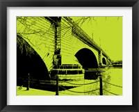 Framed London Bridges on Lime