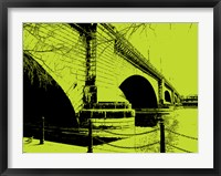 Framed London Bridges on Lime