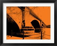 Framed London Bridges on Orange