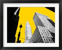 Framed New York on Yellow