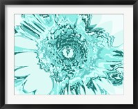Framed Turquoise Abstract Flower