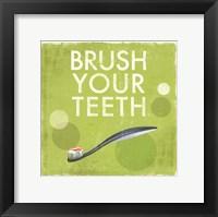 Framed Brush your Teeth