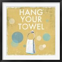Framed Hang your Towel