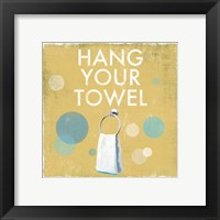 Framed Hang your Towel