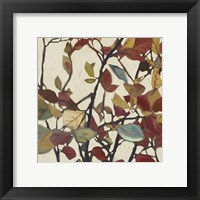 Framed Bordeaux Leaves I - Mini