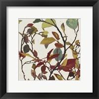 Framed Bordeaux Leaves II - Mini