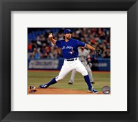 Framed R.A. Dickey 2013 Action