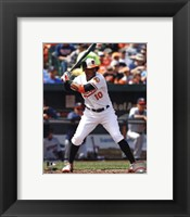 Framed Adam Jones 2013 baseball