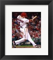 Framed Ryan Zimmerman 2013 batting action