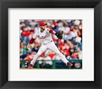 Framed Roy Halladay Baseball Action