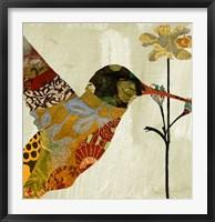 Framed Hummingbird Brocade III