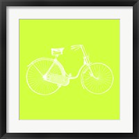 Framed Lime Bicycle
