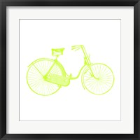 Framed Lime On White Bicycle