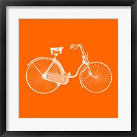 Framed Orange Bicycle