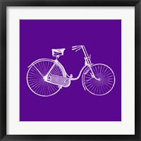 Framed Purple Bicycle
