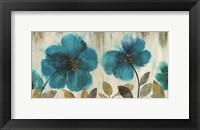 Framed Teal Flowers