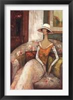 La Chaise Fleurie Framed Print