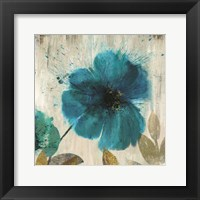 Framed Teal Splash I