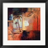 Framed Palm View I
