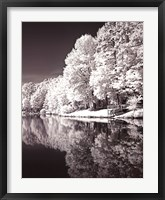 Framed Ayer's Lake BW III